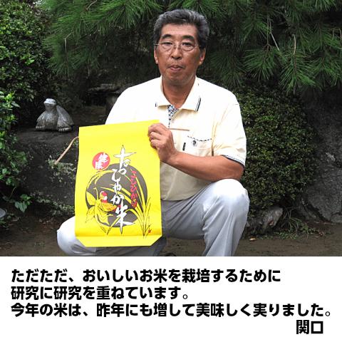 【無農薬栽培米コシヒカリ】関口さんちの「たっしゃか米」