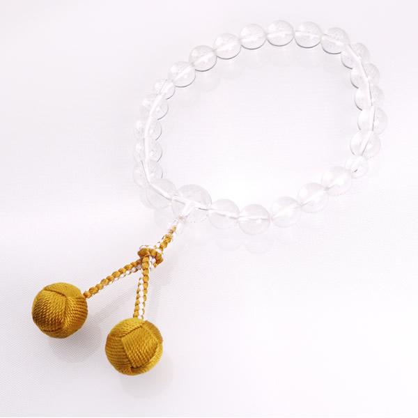 JZ-0103     男性用数珠 水晶 共仕立 22玉