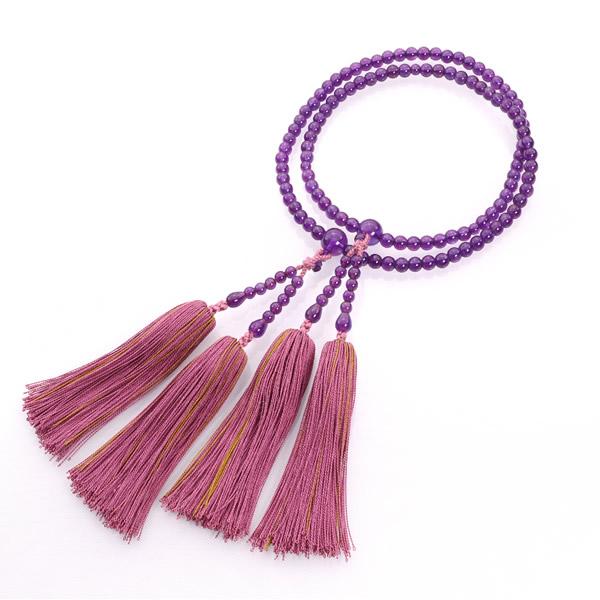 JZ-0404     宗派別女性 真言宗 紫水晶 共仕立 8寸