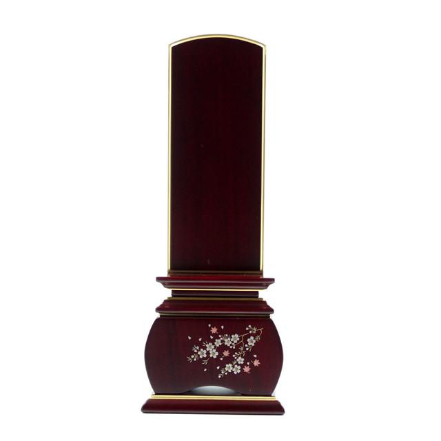 IH-0504     新世紀蒔絵位牌 紫檀材 優雅 風桜 3,0寸~5,0寸 \44,100~\52,700