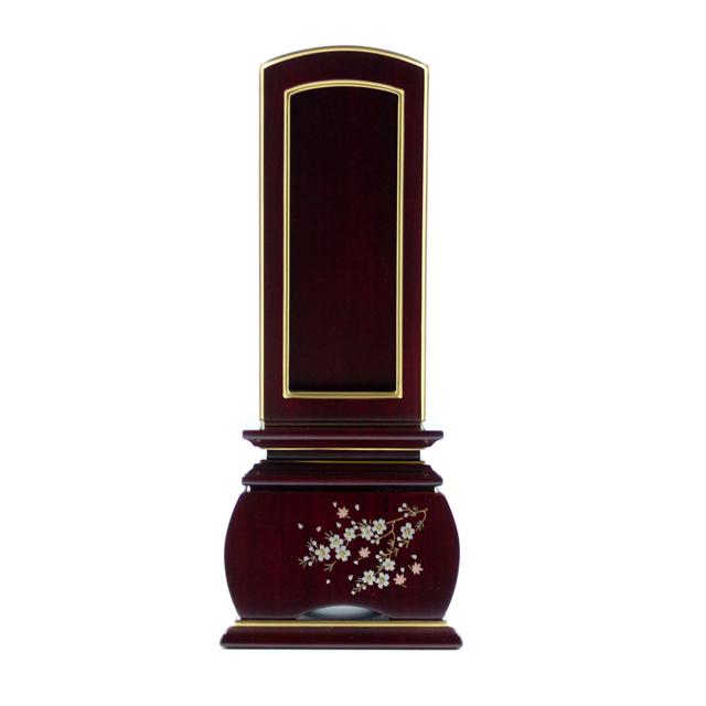 IH-0706     新世紀蒔絵位牌 優雅 紫檀材 風桜回出 3,5寸~5,0寸