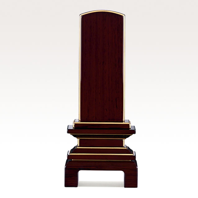 IH-0608     モダン位牌 紫檀材 京の梅 3,5寸~5,5寸