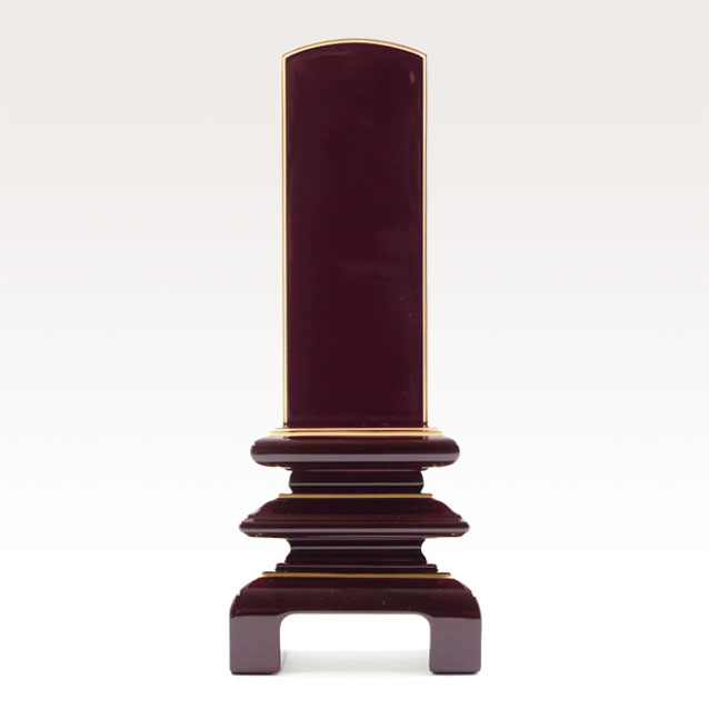 IH-0606     モダン位牌 紫檀材 春慶塗り 万寿呂門 3,5寸~6,0寸