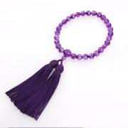 JZ-0209     女性用数珠 紫水晶切子 共仕立 10mm玉