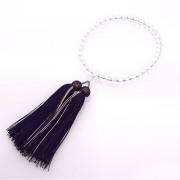 JZ-0210     女性用数珠 本水晶 オパール仕立 7mm玉