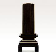 IH-0607     モダン位牌 黒檀材 京の梅 3,5寸~5,5寸