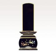 IH-0507     新世紀蒔絵位牌 黒塗り 優雅 おしどり 3,0寸~5,0寸