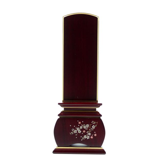 IH-0504     新世紀蒔絵位牌 紫檀材 優雅 風桜 3,0寸~5,0寸
