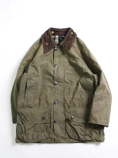 RESIZE&OIL OUT BARBOUR JACKET OLIVE 36 yoused リサイズオイルアウトバブアー