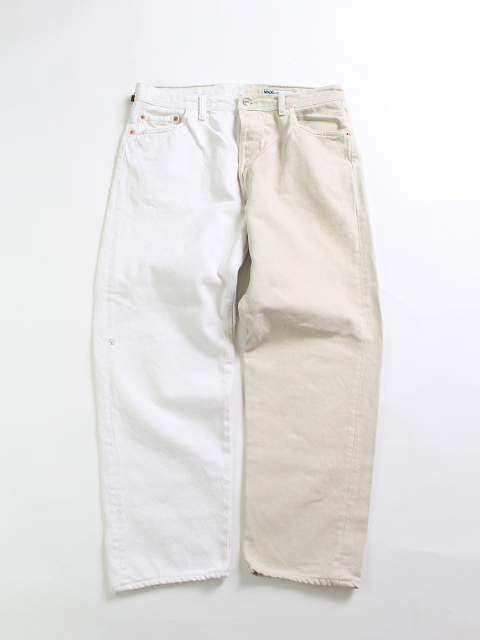 REMAKE 2FOR1 WHITE DENIM PANTS SUNNY SIDE UP-SIZE4 TYPE A ホワイトデニムパンツ サニーサイドアップ