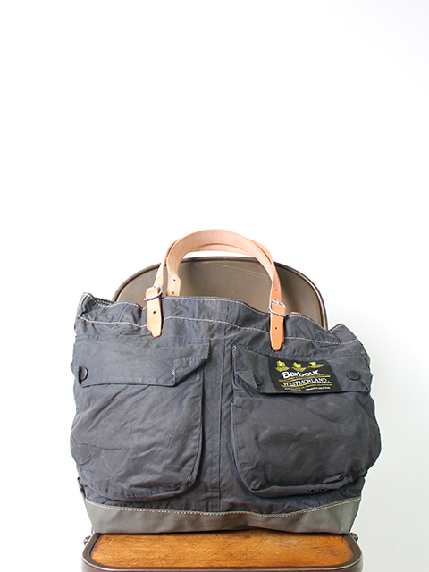 BARBOUR REMAKE BAG NAVY type A-yoused バブアーリメイクバッグ