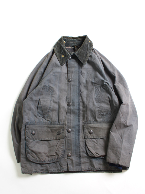 RESIZE&OIL OUT BARBOUR JACKET NAVY 36-C yoused リサイズオイルアウトバブアー