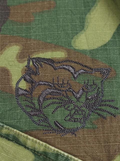 ベトジャン刺繍ジャングルファティーググリーンリーフカモ