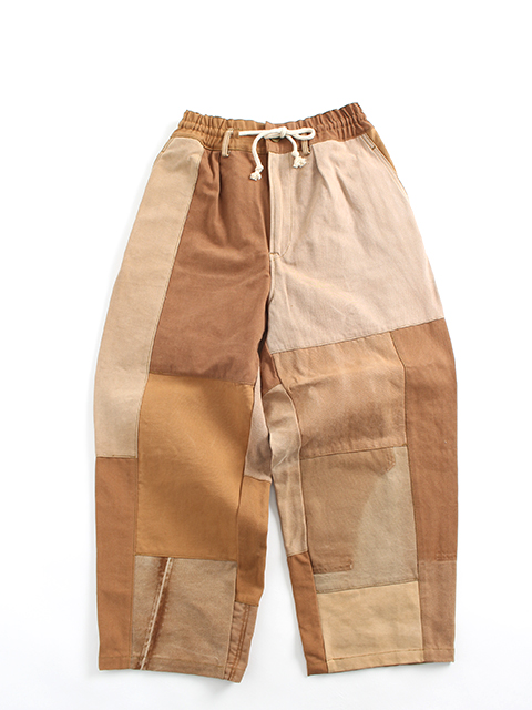 DUCK REMAKE WIDE EASY PANTS yoused ダックリメイクパッチワークワイドイージーパンツ