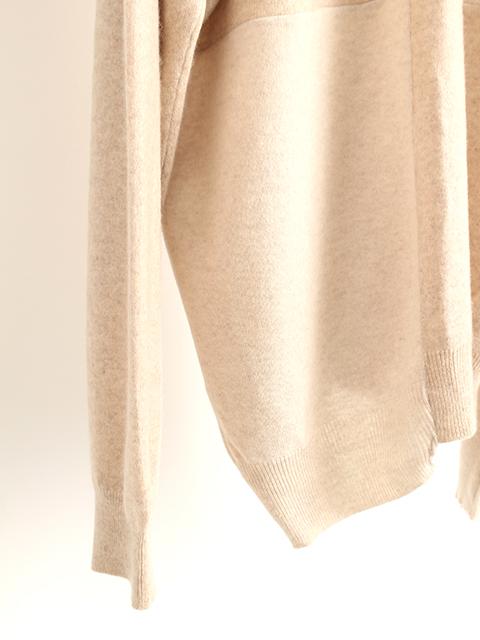 カシミアパッチワークセーターベージュサイズ2
