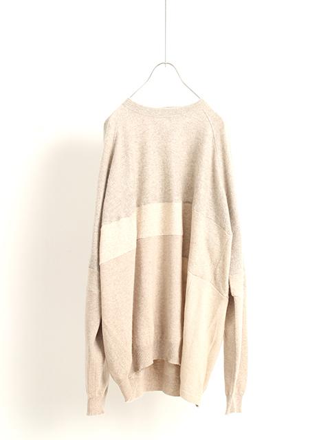 カシミアパッチワークセーターベージュサイズ2YOUSED