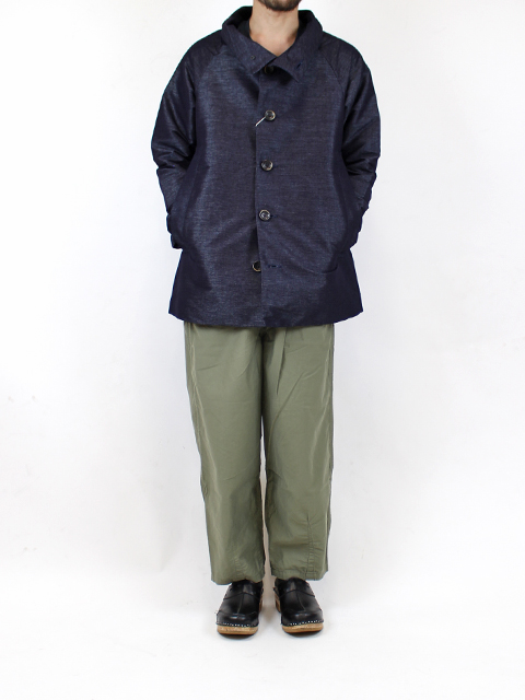 FILAMENT CHAMBRAY MAO COAT FUNSET OF ART フィラメントシャンブレーマオコート ファンセットオブアート