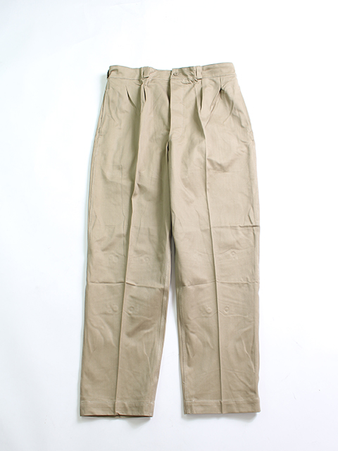 FRENCH ARMY 2TUCK CHINO TROUSERS フランス軍2タックチノトラウザー