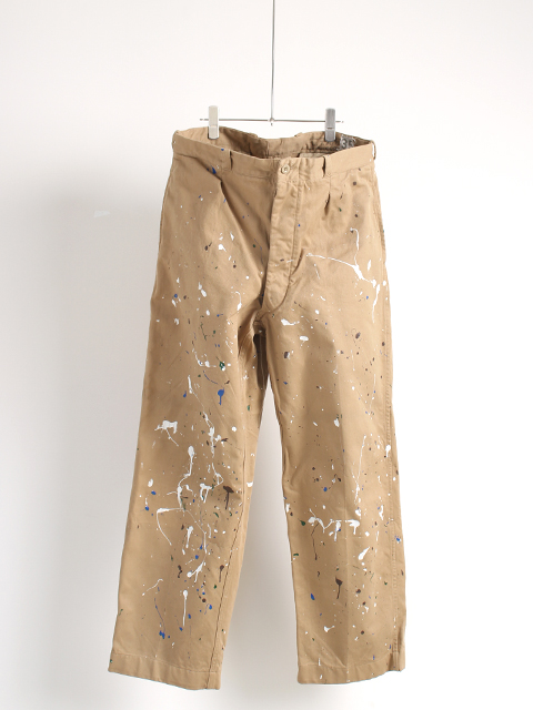 FRENCH ARMY M52 TROUSERS PAINTED フランス軍M52トラウザーペイント