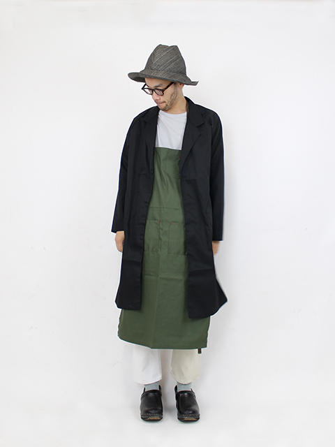 ATELIER WORK COAT-BLACK NAPRON BLUE LABEL アトリエワークコート ナプロン