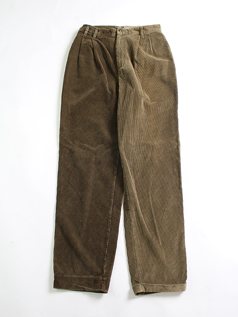 REMAKE 2FOR1 CORDUROY TROUSERS BROWN SIZE2 SUNNY SIDE UP- サニーサイドアップ