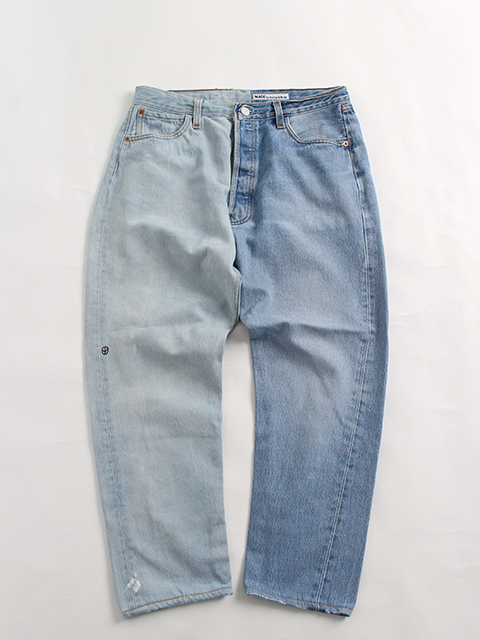 REMAKE 2FOR1 DENIM PANTS SUNNY SIDE UP-SIZE2 TYPE B デニムパンツ サニーサイドアップ