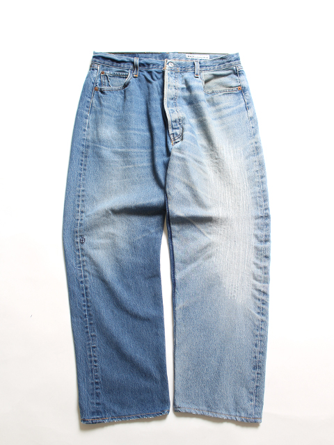 REMAKE 2FOR1 DENIM PANTS SUNNY SIDE UP-SIZE4 TYPE A デニムパンツ サニーサイドアップ