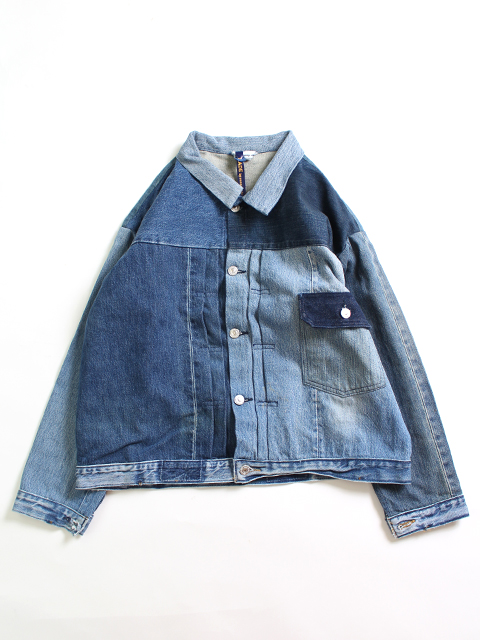 REMAKE DENIM 1ST WIDE JACKET/SIZE-3 SUNNY SIDE UP-サニーサイドアップ
