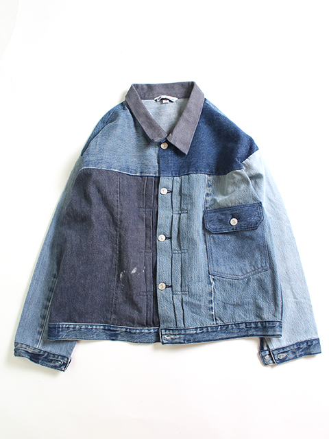REMAKE DENIM 1ST WIDE JACKET/SIZE-3C SUNNY SIDE UP-サニーサイドアップ