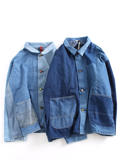 REMAKE PATCHWORK COVERALL SUNNY SIDE UP リメイクパッチワークカバーオール サニーサイドアップ