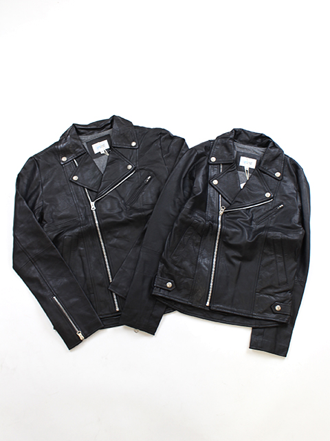 RE LEATHER DOUBLE RIDER'S JACKET yoused リメイクレザーダブルライダースジャケット