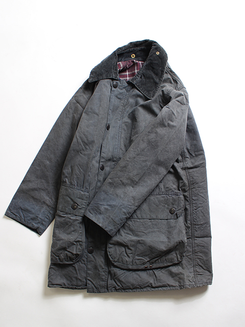 RESIZE&OIL OUT BARBOUR JACKET NAVY 36-B yoused リサイズオイルアウトバブアー