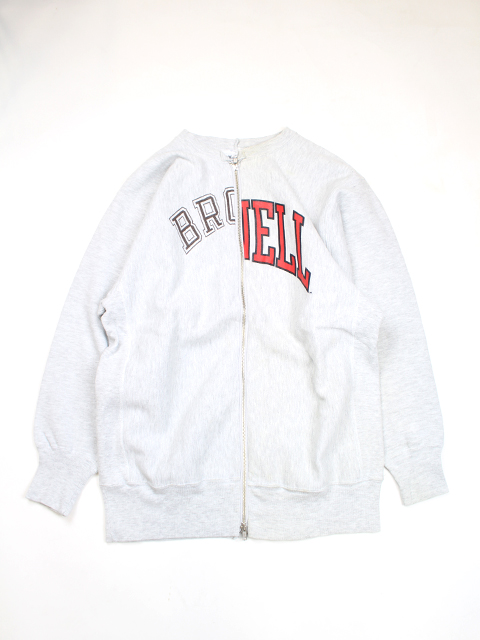REVERS SWEAT W ZIP CREW NECK SUNNY SIDE UP-サニーサイドアップ