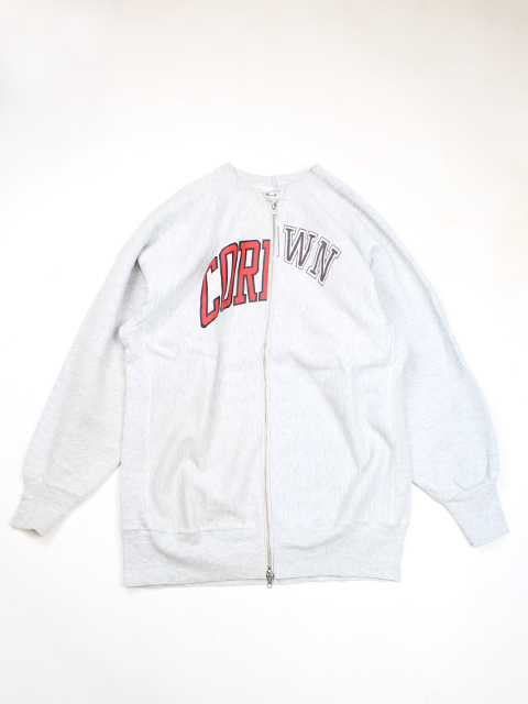 REVERS SWEAT W ZIP CREW NECK SUNNY SIDE UP TYPE B-サニーサイドアップ