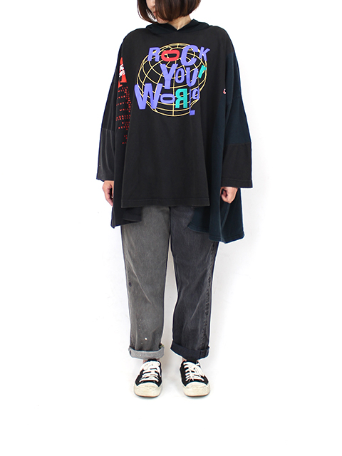 REMAKE 2FOR1 BLACK DENIM SUNNY SIDE UP-SIZE1 TYPE A サニーサイドアップ