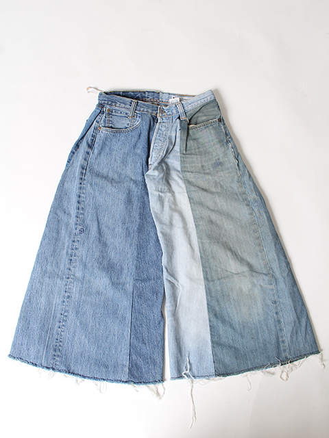 REMAKE 4FOR1 WIDE DENIM PANTS SUNNY SIDE UP-SIZE1 サニーサイドアップ