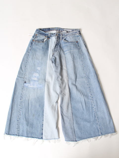 REMAKE 4FOR1 WIDE DENIM PANTS SUNNY SIDE UP-SIZE2 サニーサイドアップ