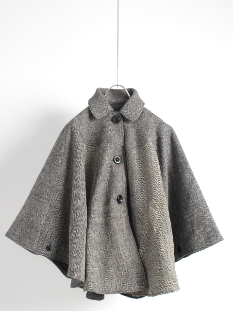 TWEED REMAKE PONCHO yoused ツイードリメイクポンチョ ユーズド