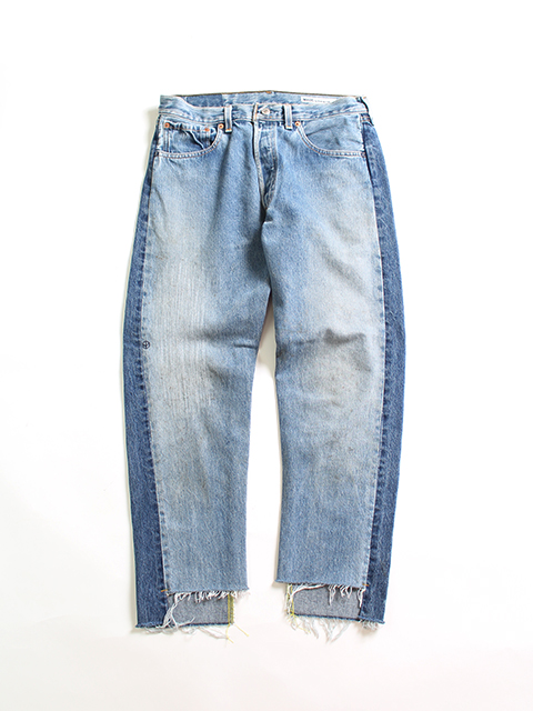 REMAKE 2FOR1 FRONT LOW DENIM PANTS-SIZE2 TYPE A フロントローデニムパンツサニーサイドアップ