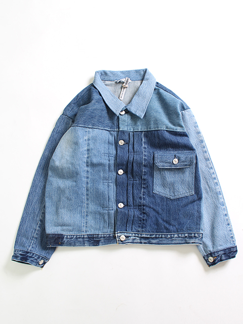 REMAKE DENIM 1ST WIDE JACKET SUNNY SIDE UP-サニーサイドアップ
