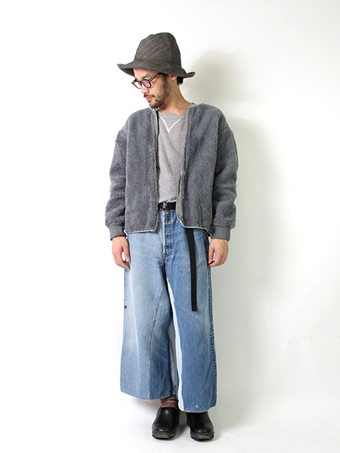 REMAKE DENIM BAGGY PANTS SUNNY SIDE UP-SIZE2C サニーサイドアップ
