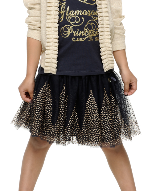 【Le Chic】スカート<紺xGOLD>92 128 152サイズ★特別価格★