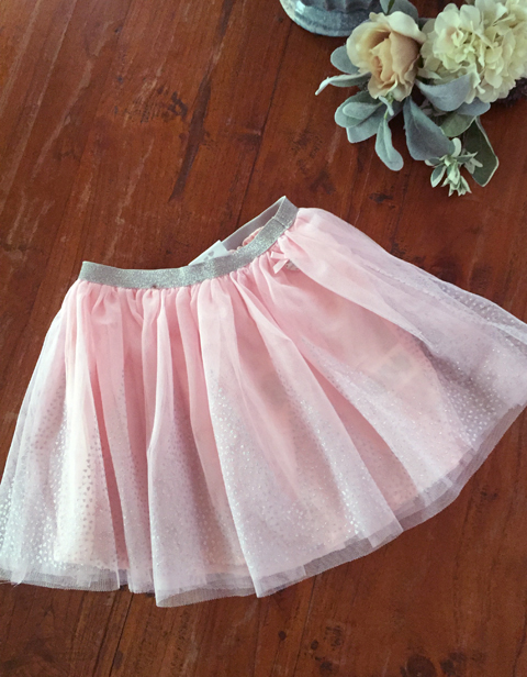 【Le Chic】スカート<ピンクxSilver>92 116 128 152サイズ★特別価格★