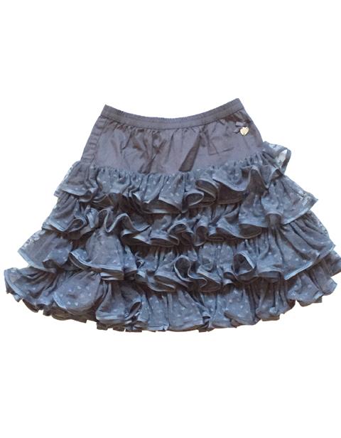 【Le Chic】 ドット フリルスカート <グレー>116サイズ★特別価格★