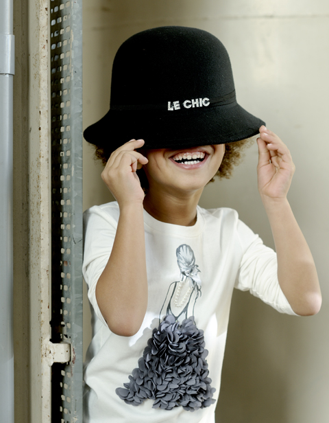 【Le Chic】 Tシャツ ドレス<白> 104/116/128サイズ★特別価格★