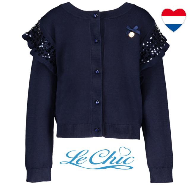 【Le Chic ルシック】カーディガン   袖フリル スパンコール 116 128 140 152 サイズ