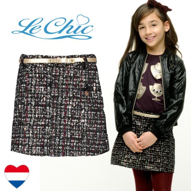 【Le Chic ルシック】スカート ツイード風 116 128 140 152 164サイズ