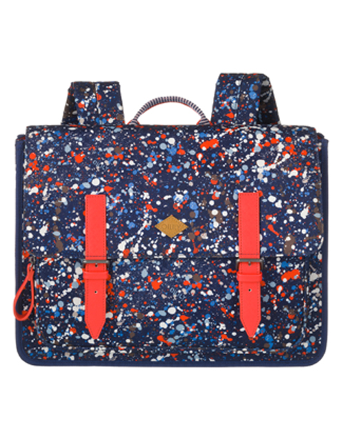 OILILY【OES7515-559】Back to school フラップバックパック(M) Blue