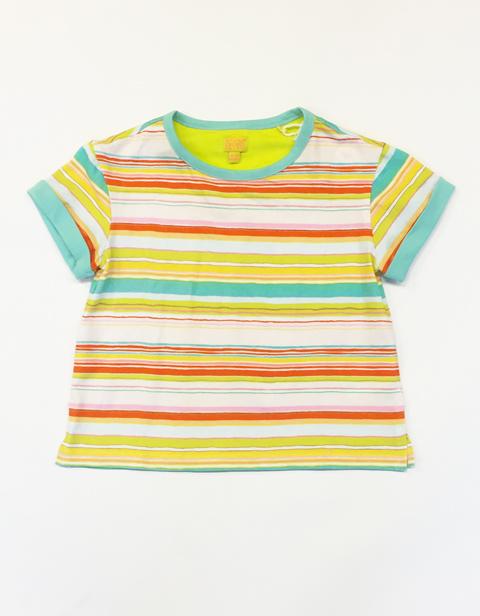 ルームセブン【S17GJE024】ボーダーゆったりTシャツ 104サイズ