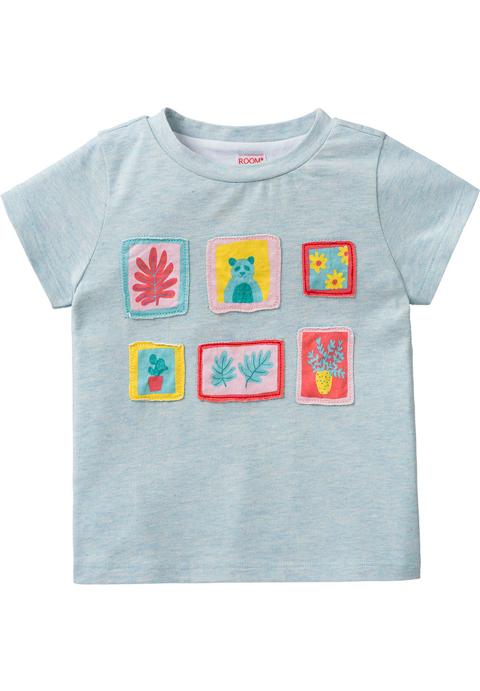 ルームセブン【S18GJE022】フォトフレームモチーフTシャツ92/104/116/128/140/152サイズ
